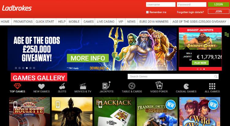 Ladbrokes Review Casino