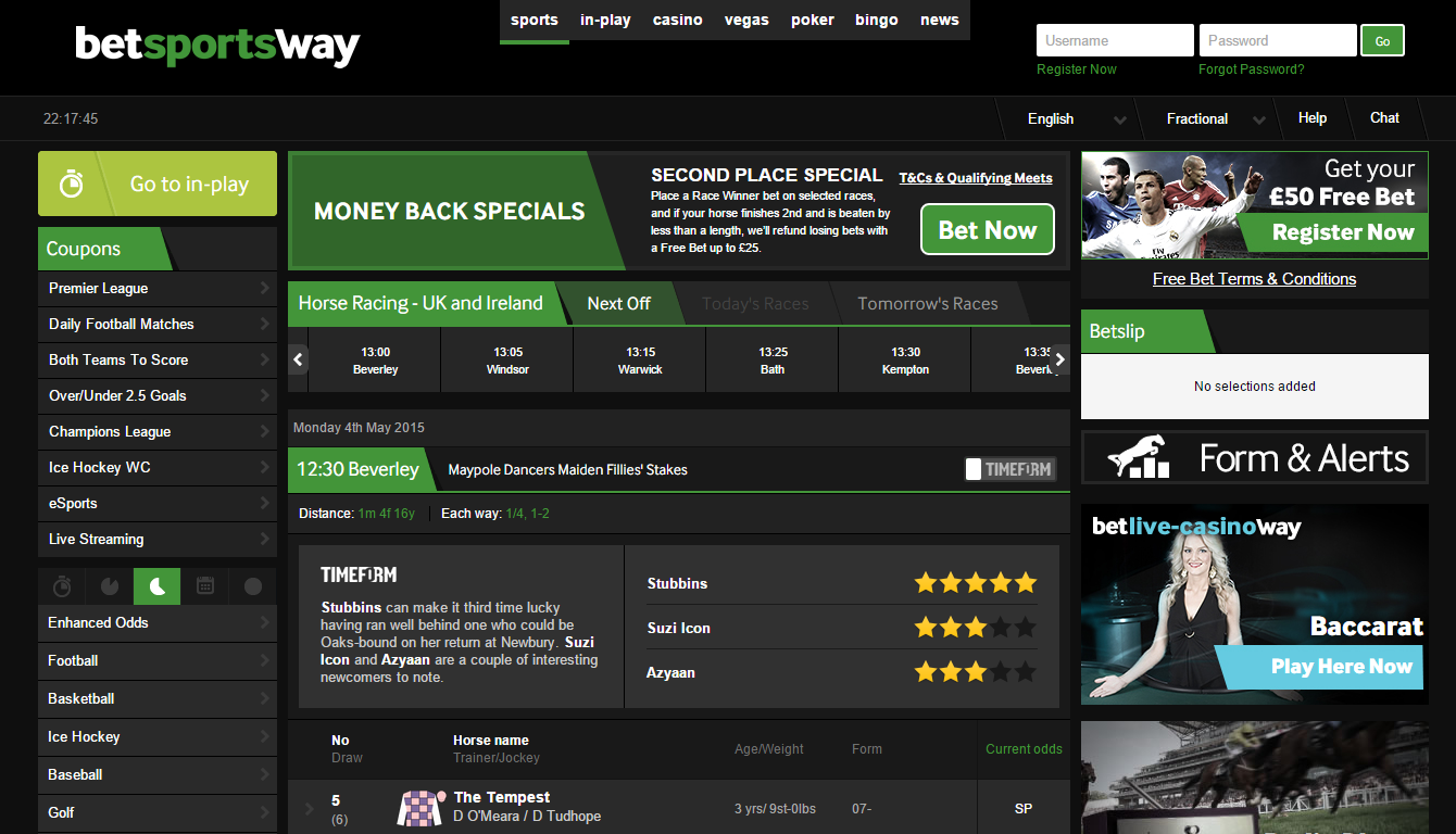 Betway horse racing site