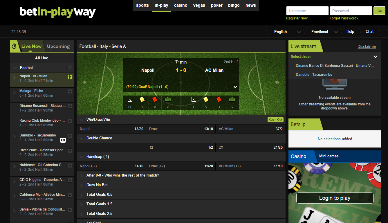 Betway football betting site