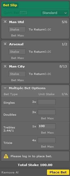 bet365 accumulator - Premier League