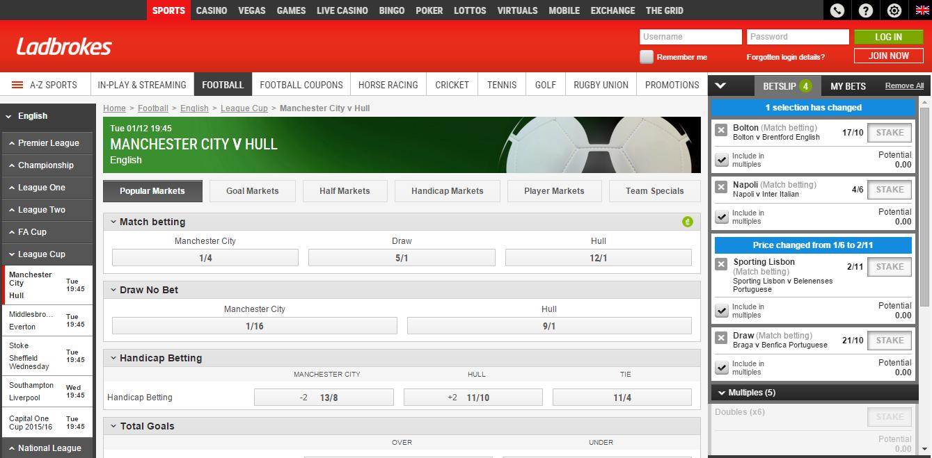 Ladbrokes football predictions - best betting tips