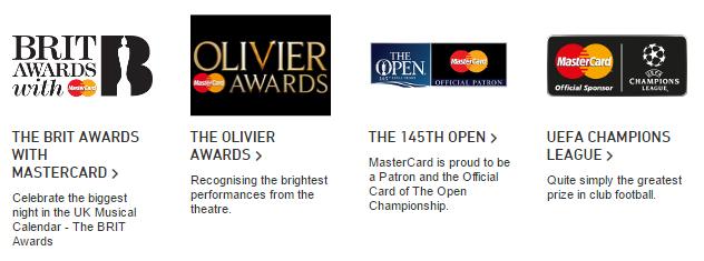 MasterCard Sponsorships