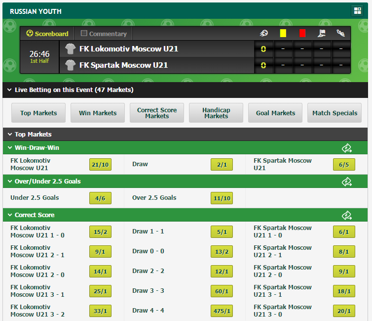 Online Live Betting