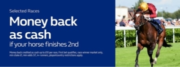 William Hill 'Money Back 2nd in Cash' Promotion