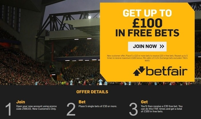 betfair sportsbook welcome bonus