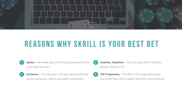 bet online with skrill