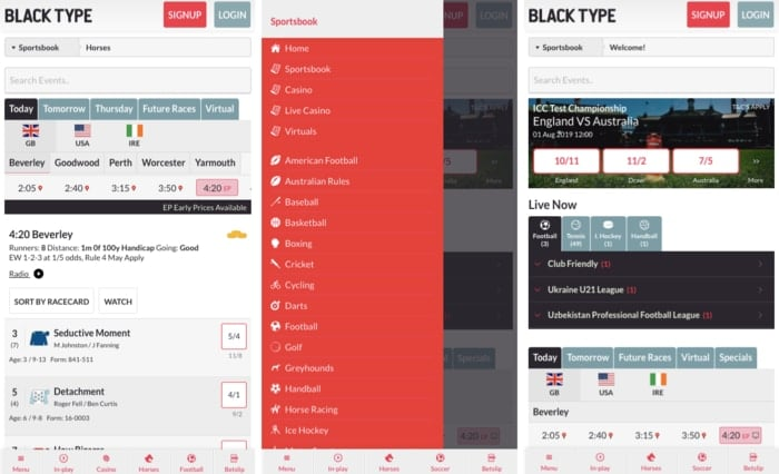 Black Type Mobile App