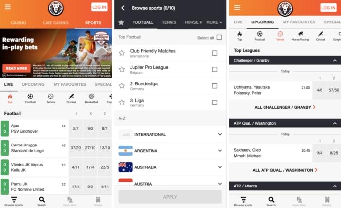 Leovegas Sport Mobile App