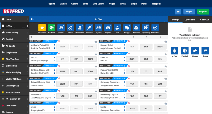 Live Betting With Betfred