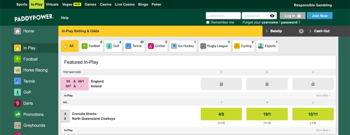 Live Betting With Paddy Power