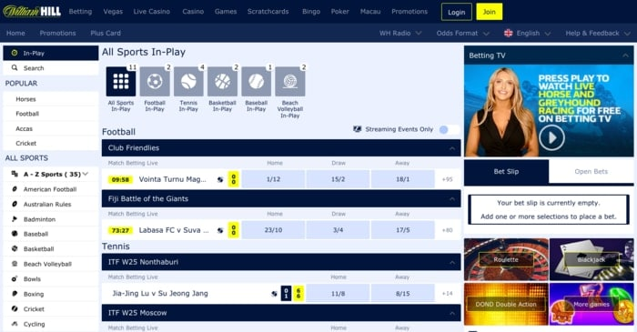 Live Betting with William Hill