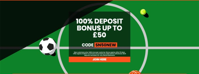 Sportnation Welcome Bonus