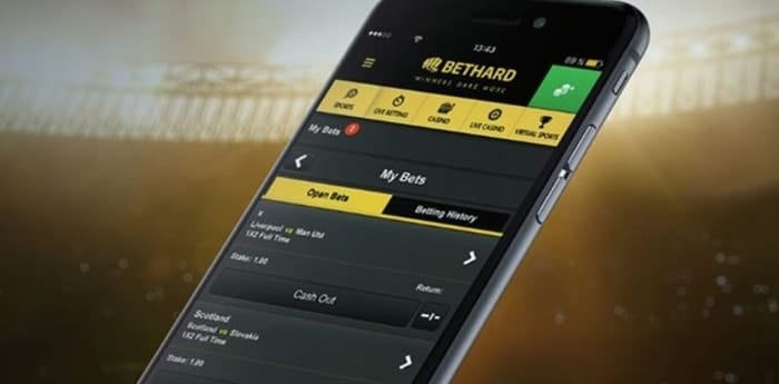 bethard cashout on mobile app