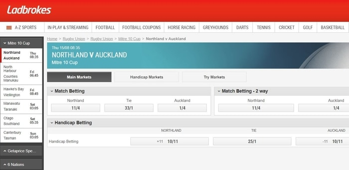 betting on rugby with ladbrokes