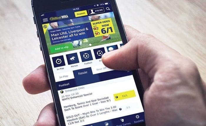 william hill mobile betting app