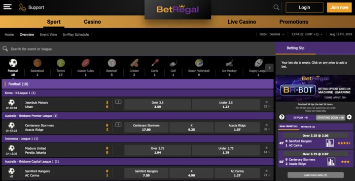 Live Betting with BetRegal