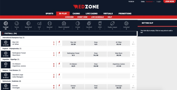 Live Betting with RedZone Sports