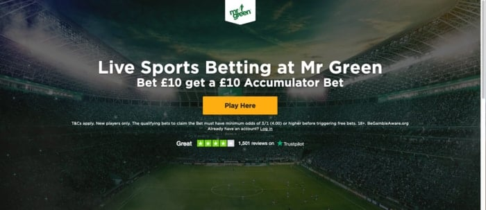 Mr Green Sports Welcome Bonus