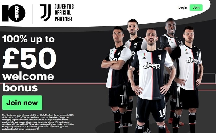 10bet sports new customer welcome promo