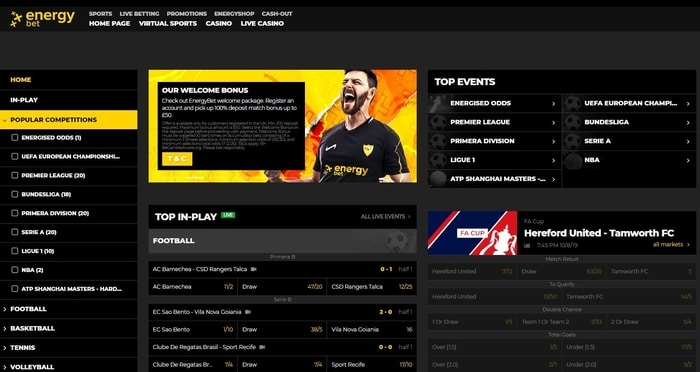 energybet home page