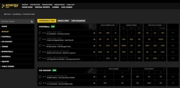 energybet live inplay betting page