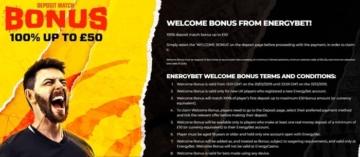 energybet new customer welcome offer