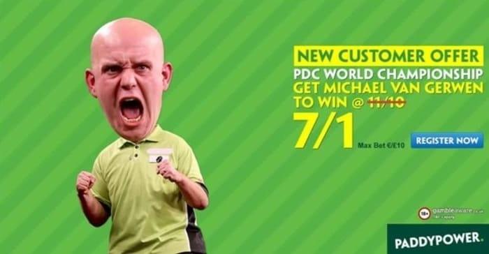 paddy power new customer darts offer