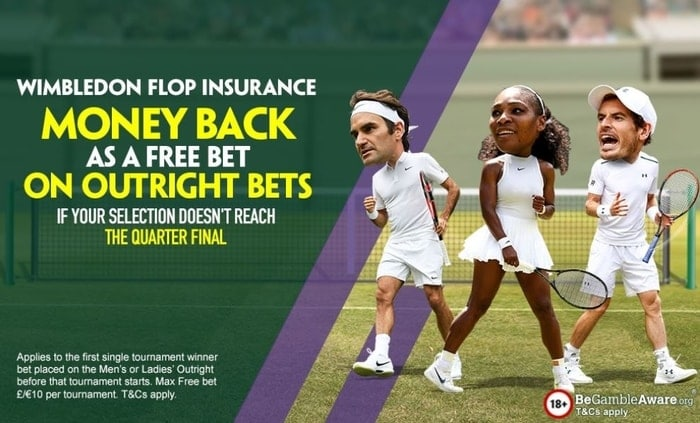 paddy power wimbledon tennis betting promotion