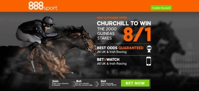 888sport 2000 guineas stakes betting promo