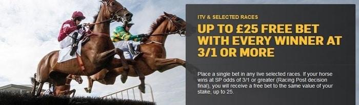 betfair horse racing betting offer