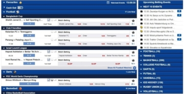 boylesports live betting user interface