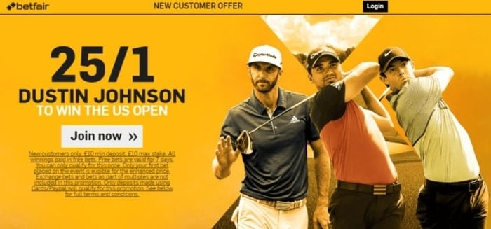 betfair golf us open enhanced odds new customer offer