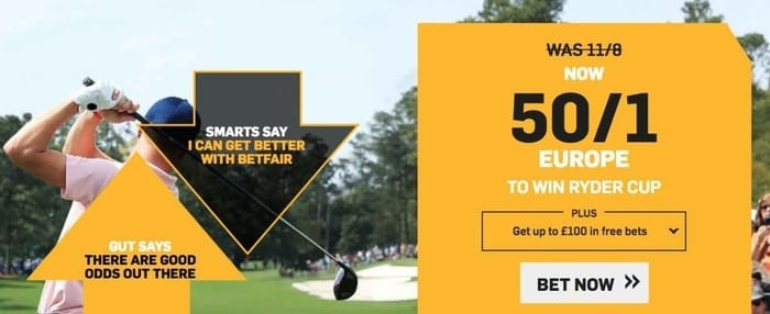 betfair ryder cup enhanced odds for new customers