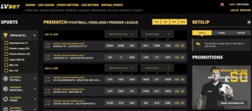 lv bet sports betting interface