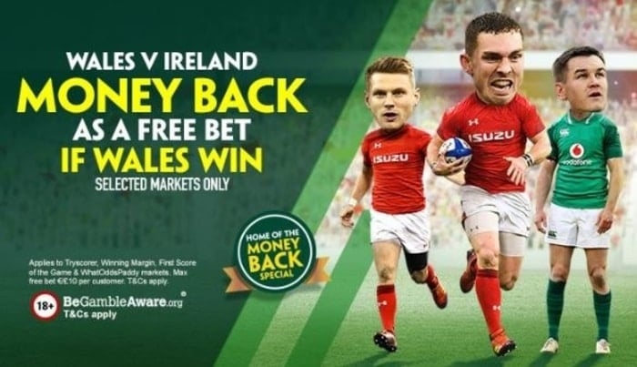 paddy power six nations money back special