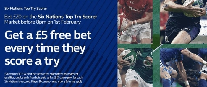 william hill six nations free bet offer