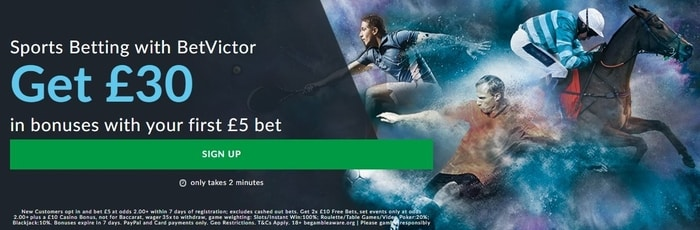 betvictor welcome bonus offer for new sports betting customers