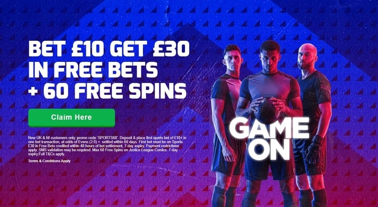 betfred welcome bonus offer for new sportsbook customers