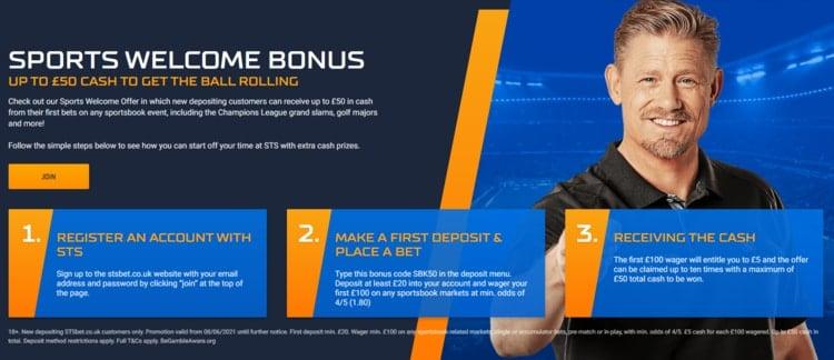 stsbet welcome bonus